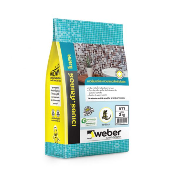 Keo dán gạch chống thấm Weber Color Mossaic